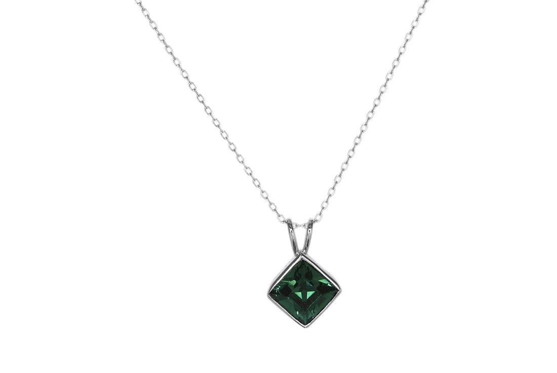 W Mega Srebrny naszyjnik z kryształem Swarovskiego - Monarti Srebrna XM32